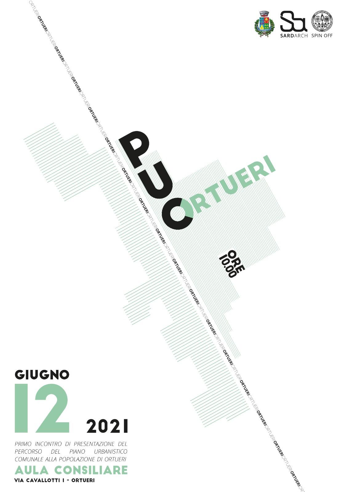 PUC - ORTUERI  Primo incontro di presentazione del percorso  del Piano Urbanistico Comunale