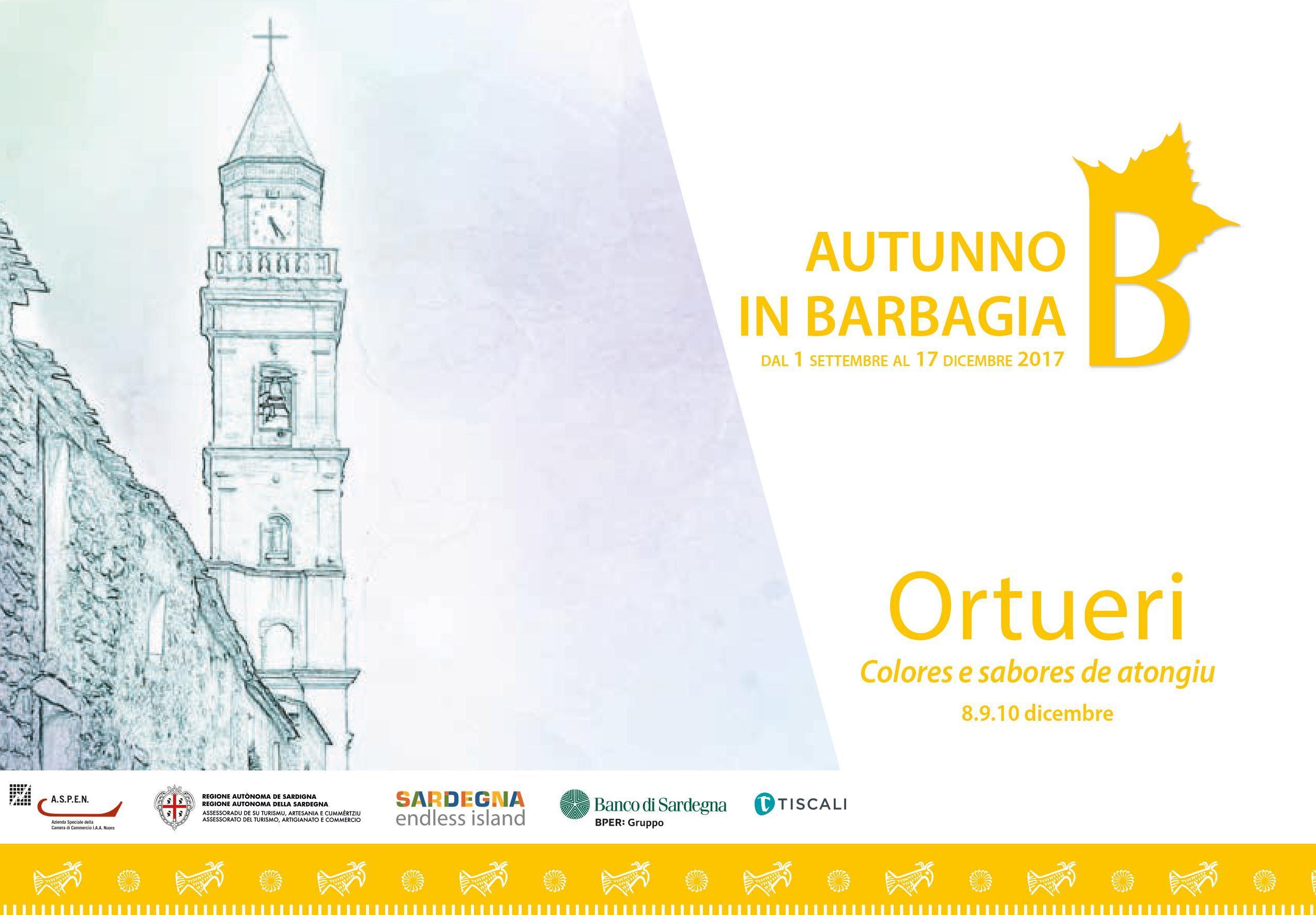 AUTUNNO IN BARBAGIA 2017   Programma completo                       'Colores e sabores de atongiu'